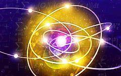 Representação de um átomo.