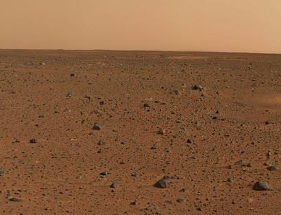 Figura 4 - Marte: Um planeta desértico.