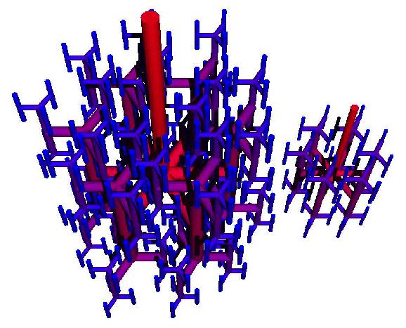 Misturador fractal tridimensional.